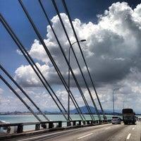 Photo taken at Penang Bridge by Matthew K. on 4/28/2013