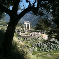 Photo taken at Delphi by Eugenia G. on 5/2/2012
