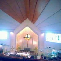 Photo taken at Gereja Katolik Santo Yakobus by Mikael Andi on 4/7/2012
