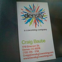 Photo taken at Creative Density Coworking by Christopher G. on 3/27/2012