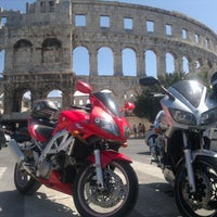 Photo taken at Arena Pula | The Pula Amphitheater by Andor S. on 8/7/2012