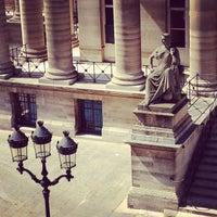 Photo taken at Palais Brongniart (Ancienne Bourse de Paris) by Pierre-Edouard S. on 4/12/2012