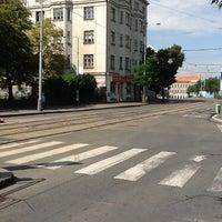 Photo taken at Nádraží Holešovice (tram, bus) by Vlastimil Shaana S. on 8/3/2012