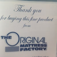 Photo taken at Original Mattress Factory by Anon U. on 8/27/2012