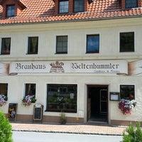Photo taken at Brauhaus Weltenbummler by Hans B. on 8/12/2012