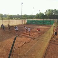 Photo taken at Röpte teniszpálya/lelátó :o) by Anikó Z. on 6/18/2012