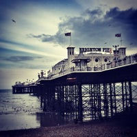 Photo taken at Brighton Palace Pier by Steven B. on 4/6/2012