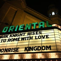 Photo taken at Oriental Theatre by Timothy T. on 7/20/2012