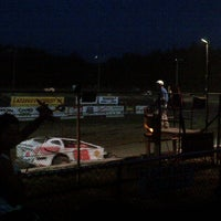 Photo taken at Albany-Saratoga Speedway by Alan R. on 8/4/2012