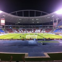 Photo taken at Olympic Stadium (Engenhão) by Marcio C. on 7/19/2012