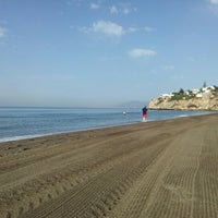 Photo taken at Rincón de la Victoria Beach by Ana G. on 7/7/2012