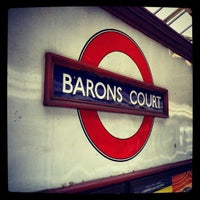 Photo taken at Barons Court London Underground Station by Roldano D. on 6/27/2012