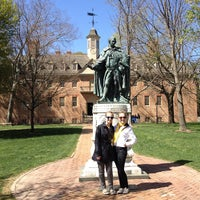 Photo taken at Wren Building and Courtyard by Todd N. on 3/27/2012