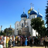 Photo taken at The Holy Trinity-St. Sergius Lavra by Evgeniya A. on 7/8/2012
