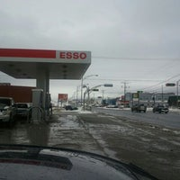 Photo taken at Couche-Tard Matane Irving by Chouette T. on 3/4/2012
