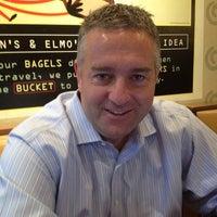 Photo taken at Einstein Bros Bagels by Charlie P. on 5/2/2012