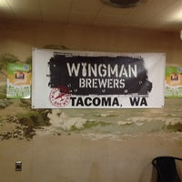 Photo taken at Wingman Brewers by Michael C. on 2/18/2012