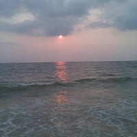 Photo taken at Padubidri Beach by Anantha P. on 2/10/2012
