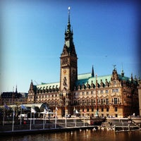 Photo taken at Hamburger Rathaus by Liz on 5/25/2012
