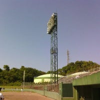 Photo taken at 蒲郡野球場 by Fumihiro I. on 5/4/2012