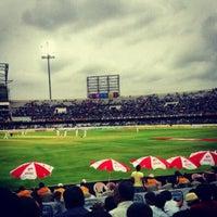 Photo taken at Rajiv Gandhi Cricket Stadium by Paramveer S. on 9/3/2012