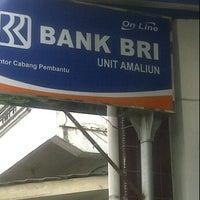 Photo taken at Bank BRI Unit Amaliun Kantor Cabang Pembantu by Kedhai H. on 2/29/2012