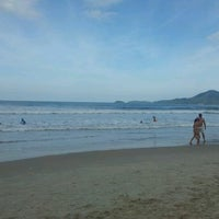 Photo taken at Praia Grande by Juliana P. on 7/14/2012