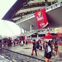 Photo taken at Seoul Worldcup Stadium by Jaehwa J. on 8/18/2012