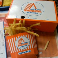 Photo taken at Whataburger by Jessica W. on 4/12/2012