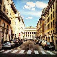 Photo taken at Palais Brongniart (Ancienne Bourse de Paris) by Arnaud M. on 5/3/2012