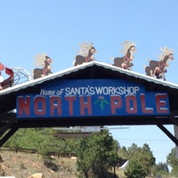 Photo taken at North Pole! Home of Santa's Workshop by Susan L. on 8/25/2012