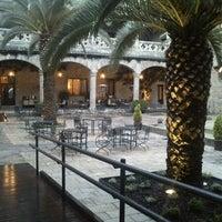 Photo taken at Hotel Parador de Jarandilla de la Vera by Miguel Angel C. on 4/29/2012