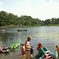 Photo taken at Stewart pond by Sean B. on 7/4/2012