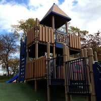 Photo taken at Frick Park Blue Slide Playground by John F. on 10/21/2012