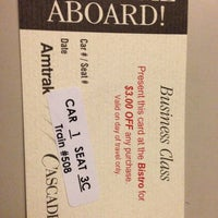 Photo taken at Amtrak Train 508 (Cascades) by Edwin M. on 1/24/2013