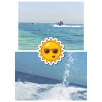 Photo taken at Nuwaiseeb beach by Noura on 9/4/2015