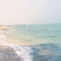 Photo taken at Nuwaiseeb beach by Noura on 5/2/2015