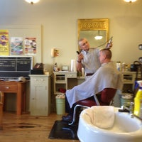 Photo taken at Monument Square Barber Shop by Robby W. on 9/3/2013