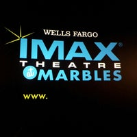 Photo taken at Wells Fargo IMAX Theatre at Marbles by Anthony M. on 3/9/2013