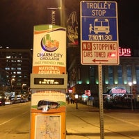 Photo taken at Charm City Circulator - Orange Route by Elliott P. on 12/5/2012