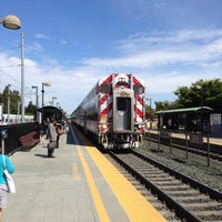 Photo taken at Mountain View Caltrain Station by Elliott P. on 6/10/2013