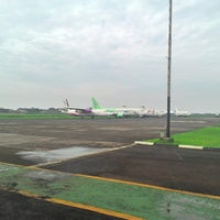 Photo taken at Pondok Cabe Airport (PCB) by Hanif L. on 7/27/2014