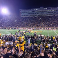 Photo taken at Faurot Field at Memorial Stadium by Eric Z. on 11/18/2012
