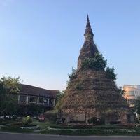 Photo taken at That Dam Stupa by kom_thai k. on 5/1/2017