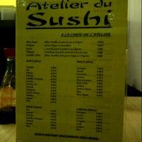 Photo prise au Atelier du Sushi par Sad S. le1/22/2013