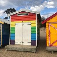 Photo taken at Brighton Bathing Box by Annie W. on 4/8/2018