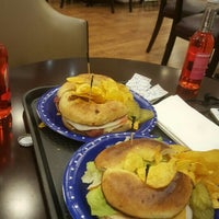 Photo taken at the great American bagel by Mohd A. on 9/29/2015