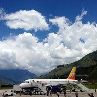Photo taken at Paro International Airport (PBH) by Jacob U. on 8/15/2013