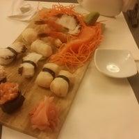 Photo taken at moshi moshi sushi by Pamela G. on 8/24/2014