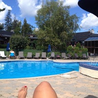 Photo taken at Hotel & Spa Mont Gabriel by Pascale M. on 9/3/2014